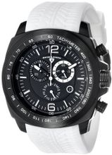 "Swiss Legend ""Sprinter"" Black Ion-Plated Stainless Steel and White Silicone Black Dial"