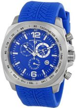 "Swiss Legend ""Sprinter"" Stainless Steel and Blue Silicone Blue Dial"