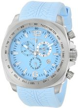 "Swiss Legend ""Sprinter"" Stainless Steel and Light Blue Silicone Light Blue Dial"