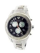 Aqua Master 40mm Round 20 Diamonds Black Face