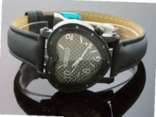 Swiss Master By Km Large Heart 12 Diamonds Black