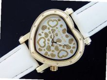 Swiss Master By Km Large Heart 12 Diamonds White