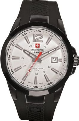 Swiss Military Hanowa Predator 06-4165-13-001 Black Polyurethane Swiss Quartz with White Dial