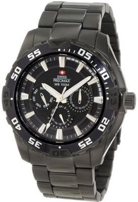 Swiss Precimax SP12049 Formula-7 XT Black Dial with Black Stainless-Steel Band