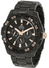 Swiss Precimax SP12145 Formula-7 XT Black Dial with Black Stainless Steel Band