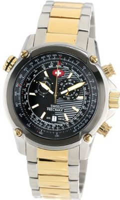 Swiss Precimax SP13078 Squadron Pro Black Dial with Two-Tone Stainless-Steel Band