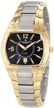 Swistar 1.2318-2M Blk Swiss Quartz Gold Plated Stainless Steel Dress