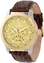 Swistar 3256-2M Bg Dual Time GMT Retrograde Day and Date Stainless Steel