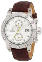 Swistar 3283-5M Wh Swiss Quartz With Dual Time Zone Date And Month Functions