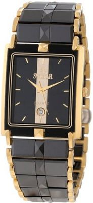 Swistar 6.9570-51M Bk High-Tech Ceramic and Gold Plated Stainless Steel Dress