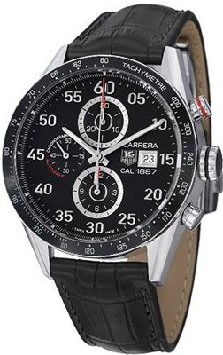 Tag Heuer Carrera Calibre 1887 Automatic Chronograph Black Dial Stainless Steel CAR2A10FC6235