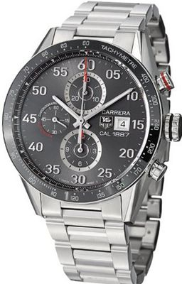 Tag Heuer Carrera Calibre 1887 Automatic Chronograph Grey Dial Stainless Steel CAR2A11BA0799