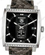 Tag Heuer Monaco Monaco Lady Diamonds Black Python