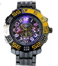 Bling Techno King Seven Color Lighting Gun Metal -Yellow Accent