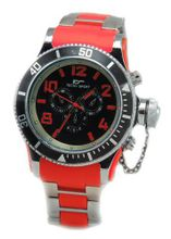 Diver-look Silver Tone Metal with Red Center Links