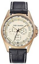 Ted Baker Round Dial Leather - Black #TE1115