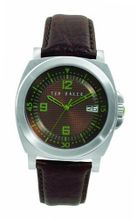 Ted Baker TE1010 Motiva-Ted Round 3-Hand Analog Leather Strap