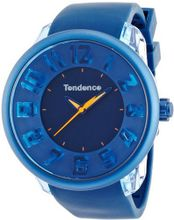 Tendence Fantasy 3H Unisex Quartz with Blue Dial Analogue Display and Blue Plastic or PU Strap T0630003