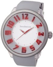 Tendence Fantasy 3H Unisex Quartz with Grey Dial Analogue Display and Grey Plastic or PU Strap T0630005