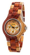 Tense Inlaid Multicolor Wood Triple Dial Round G4300I LF