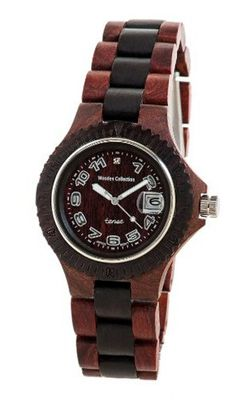 Tense Natural Two-Tone Wood Round Ladies L4100SD-W