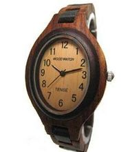 Tense Natural Solid Dark Sandalwood Ladies Hypo-allergenic Wood L7301SD Unique