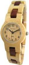 Tense Round Ladies Two-Tone Maple & Sandalwood Wood L7103MS