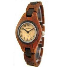 Tense Wood Sandalwood Two Tone Ladies Round Bracelet L7509SD
