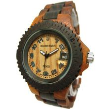 Tense Wood Two-Tone Date Time Hypoallergenic G4100SD(light face)