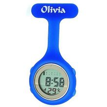 Olivia Collection Blue Digital Multi Function Silicone Nurses Fob TOC74