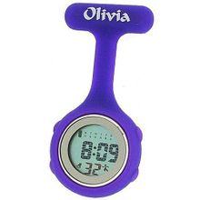 Olivia Collection Purple Digital Multi Function Silicone Nurses Fob TOC75