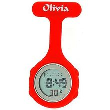 Olivia Collection Red Digital Multi Function Silicone Nurses Fob TOC76
