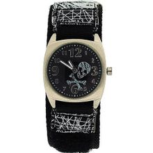 The Olivia Collectio Boys Skull and Crossbones Black Dial Velcro AKB-03