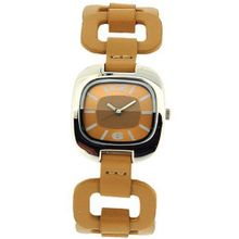The Olivia Collection Analogue Girls Tan PU Fancy Strap Casual E894