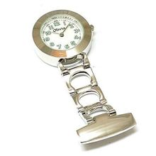 The Olivia Collection Backlight White Dial Nurse Fob TOC02