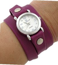 `s Purple Triple Wrap Bracelet Wrist