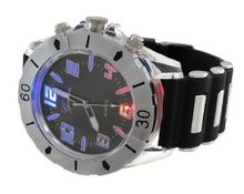uThings2Die4 `s LED Light Up Chrome and Black Silicone Band Rave