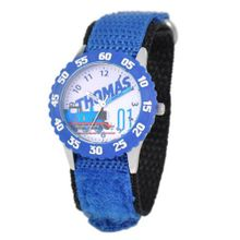 Thomas and Friends Kids' W000728 Stainless Steel Time Teacher Blue Bezel Blue Velcro Strap