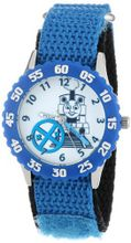 Thomas and Friends Kids' W000730 Stainless Steel Time Teacher Blue Bezel Blue Velcro Strap
