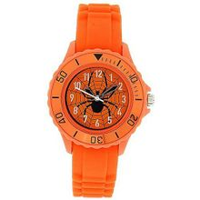 Tikkers Boys Analogue Spider Web Orange Rubber Strap Sports TK0032