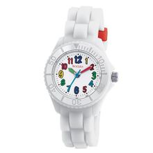 Tikkers Boys - Girls Kids White Dial White Rubber / Silicone Strap TK0017