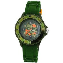 Tikkers Boys Khaki Green Camouflage Design Rubber / Silicone Strap TK0030