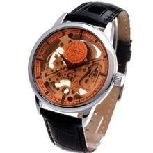 Time100 Apparent Space Full-automatical Skeleton Black Strap Mechanical #W60006G.01A