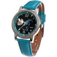 Time100 Constellation-series-Aquarius Genuine Leather Strap Automatic Mechanical Ladies #W80050L.11A