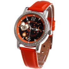 Time100 Constellation-series-Leo Genuine Leather Strap Automatic Mechanical Ladies #W80050L.05A