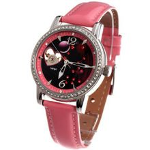 Time100 Constellation-series-Virgo Genuine Leather Strap Automatic Mechanical Ladies #W80050L.06A