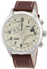 Timex Intelligent Quartz T2N932 Cream Brown Fly-Back Chronograph