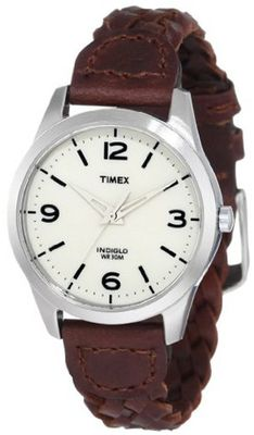 Timex T2N644 Weekender Classic Casual Woven Leather Strap