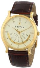 Titan 1482YL03 Classique Gold Tone Day and Date Function