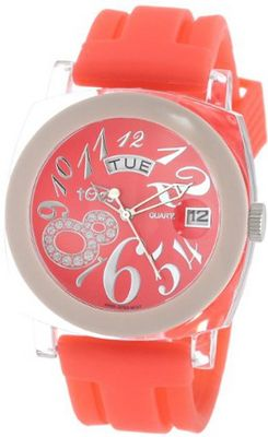 Tocs 40524 Analog Round Day-Date Poppy Punch
